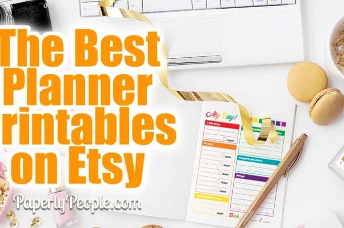 Best Printable Planners On Etsy