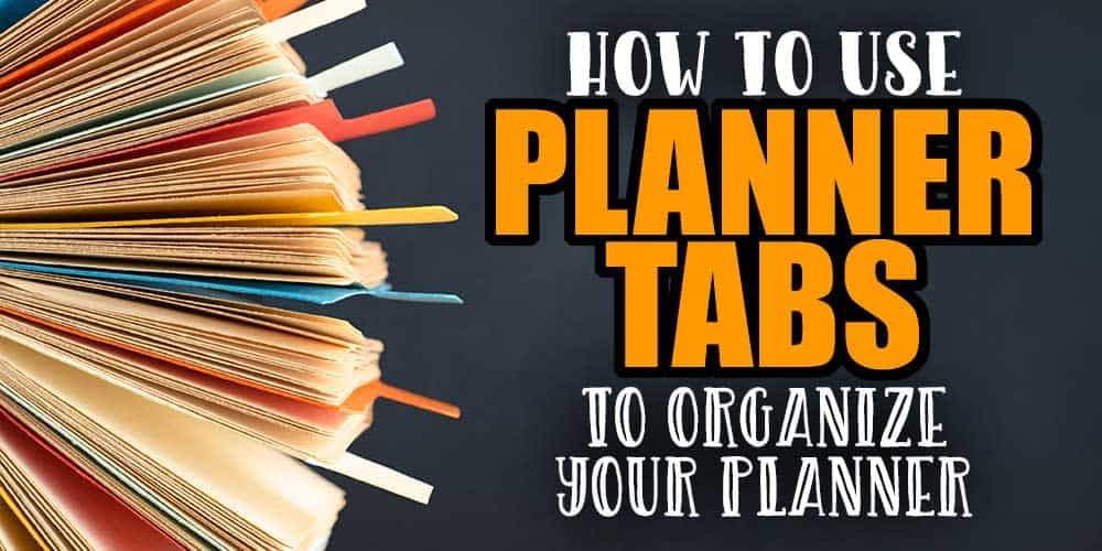 How To Use Divider Tabs To Organize Your ARC Planner